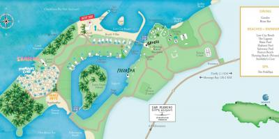 Mapa de resorts de jamaica
